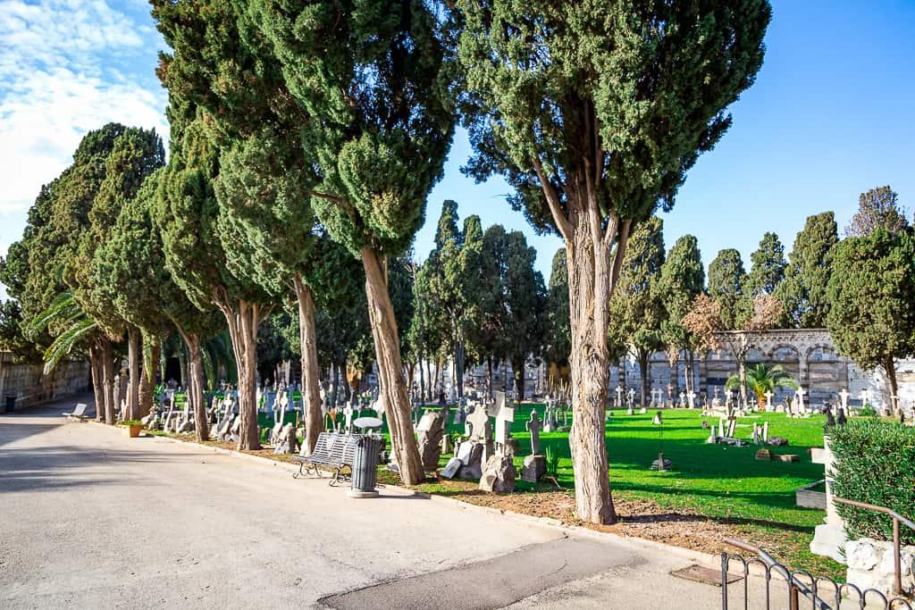vista cimitero
